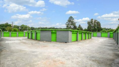 exterior storage units.