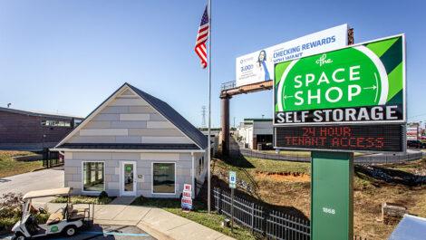 exterior of Space Shop facility.