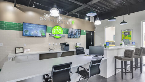 reception area of Space Shop facility