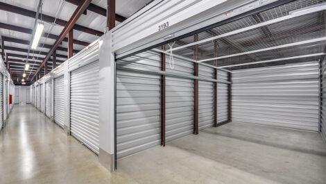 entrance to indoor storage area of Space Shop facility.