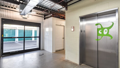 Elevators at Space Shop Self Storage Facility on 7105 Old National Hwy in Riverdale, GA