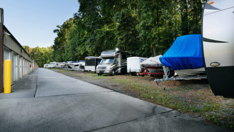 boat and rv parking area.