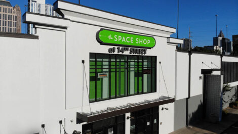 exterior of Space Shop facility.