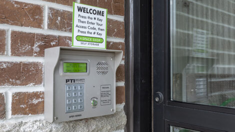 keypad access to Space Shop facility.