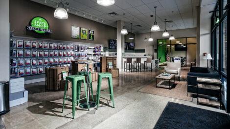reception area of Space Shop facility.