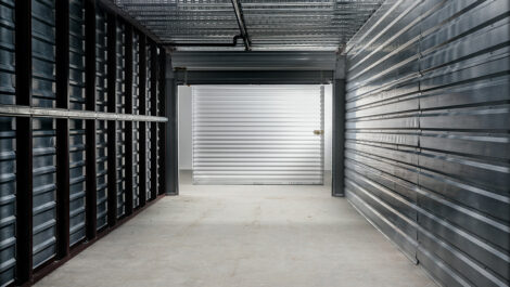 view from inside an interior storage unit.