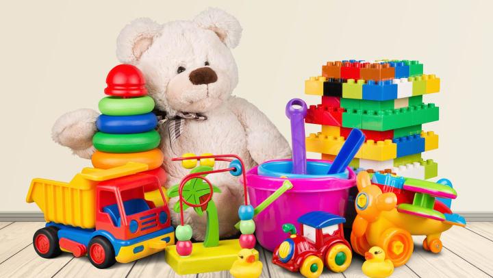 An assortment of kids toys.