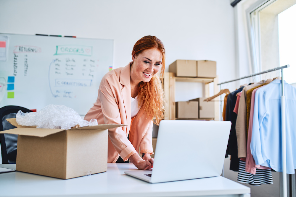 woman giving tips for selling items online